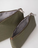 Canvas Pouch Set - Olive