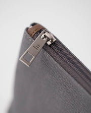 Small Canvas Pouch - Grey