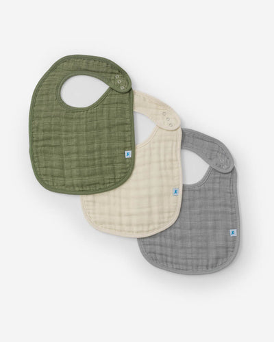 Cotton Muslin Classic Bib 3 Pack - Fern Set