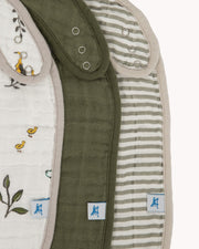 Cotton Muslin Classic Bib 3 Pack - Forest Friends 2 Set