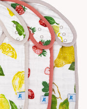 Cotton Muslin Classic Bib 3 Pack - Fruit Stand