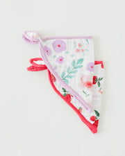 Cotton Muslin Bandana Drool Bib - Morning Glory
