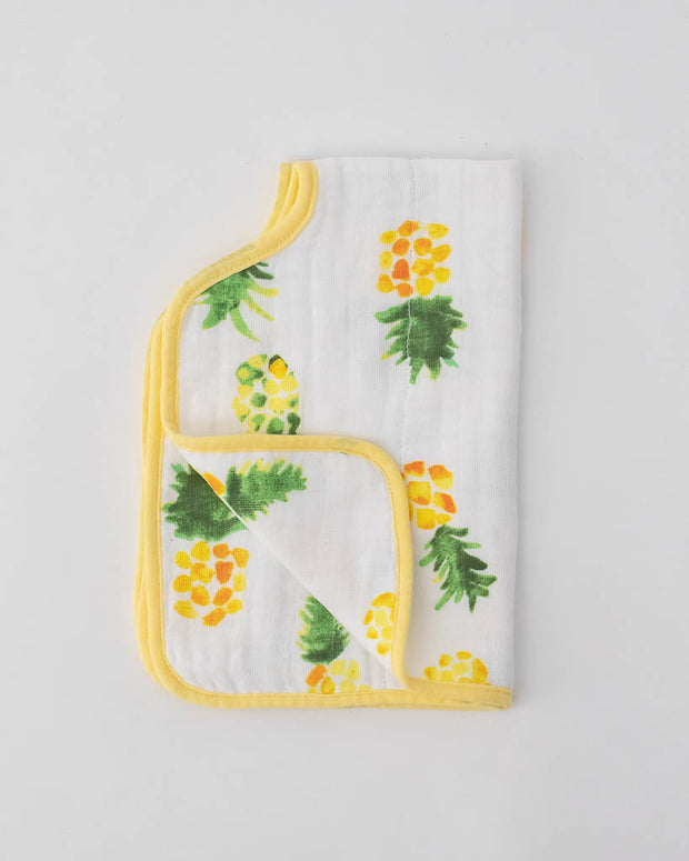 Cotton Muslin Burp Cloth - Pineapple