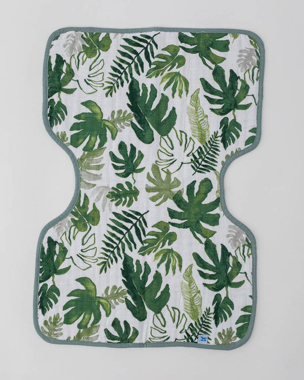 Cotton Muslin Burp Cloth - Tropical Leaf