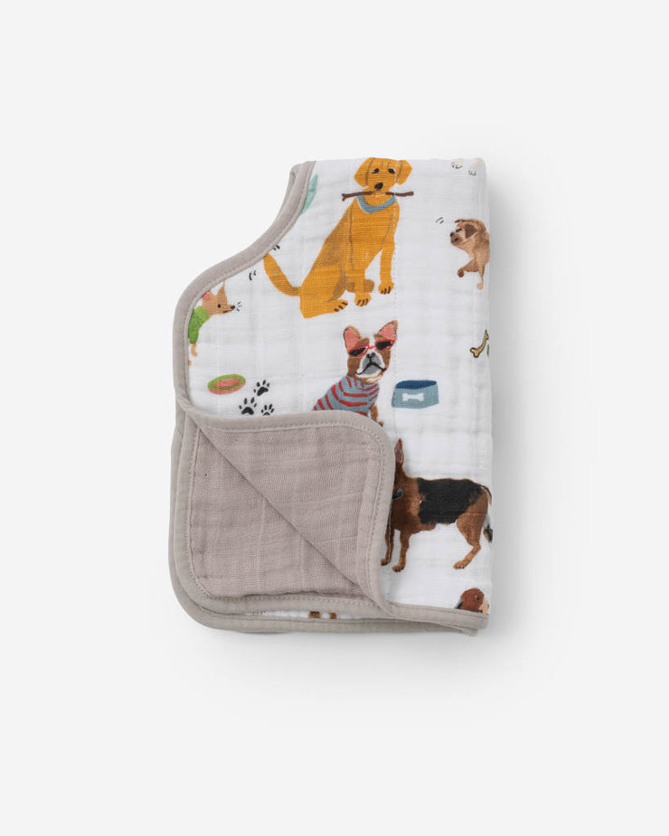 Cotton Muslin Burp Cloth - Woof
