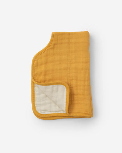Cotton Muslin Burp Cloth - Mustard