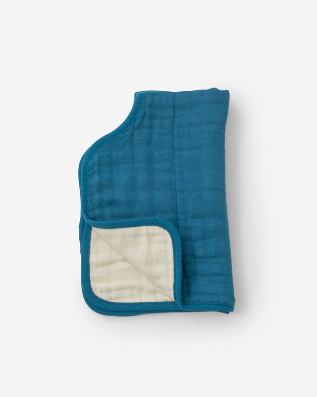Cotton Muslin Burp Cloth - Lake
