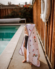 Hooded Towel & Washcloth Set - Mermaid