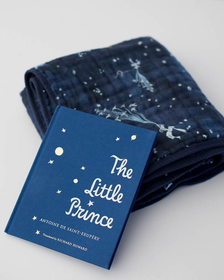 Little Prince Flock of Stars Quilt + Hardcover Book Gift Set