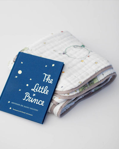 Little Prince Quilt + Hardcover Book Gift Set