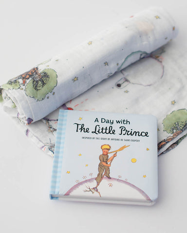 Little Prince Swaddle Blanket + Book Gift Set