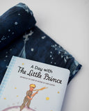 Little Prince Flock of Stars Swaddle Blanket + Book Gift Set