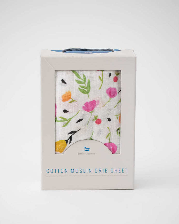 Cotton Muslin Crib Sheet - Berry & Bloom