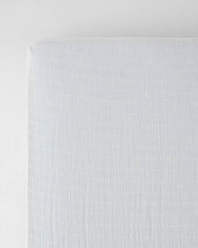 Cotton Muslin Crib Sheet - White