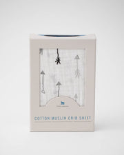 Cotton Muslin Crib Sheet - Arrow