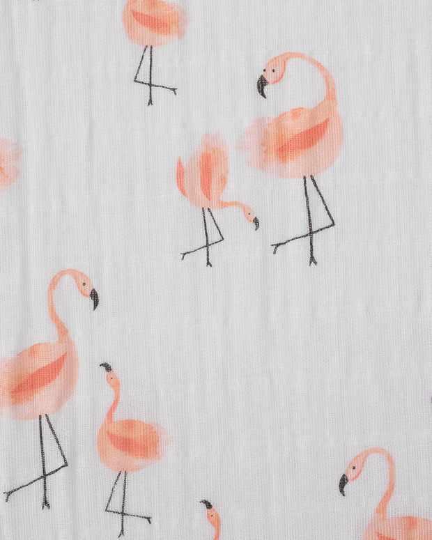 Cotton Muslin Crib Sheet - Pink Ladies