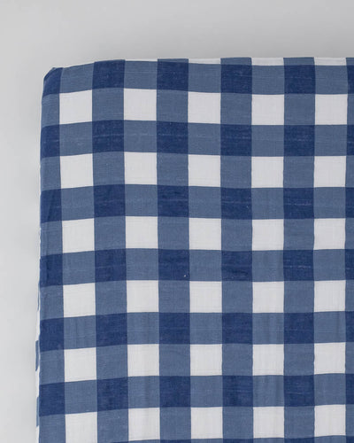 Cotton Muslin Crib Sheet - Jack Plaid