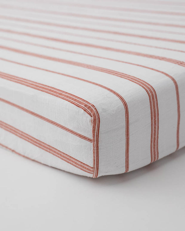 Cotton Muslin Crib Sheet - Grain Sack