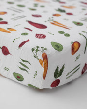 Cotton Muslin Crib Sheet - Farmers Market