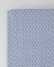 Cotton Muslin Crib Sheet - Blue Grass