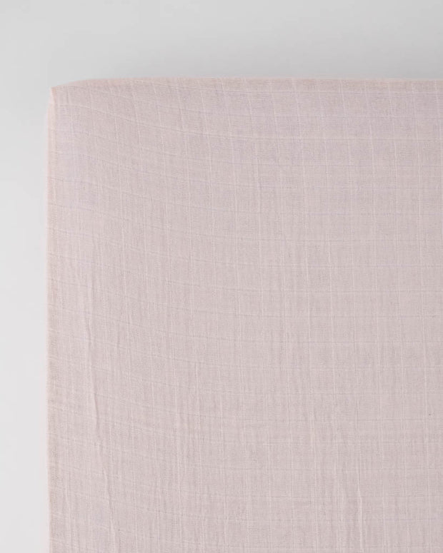Cotton Muslin Crib Sheet - Blush