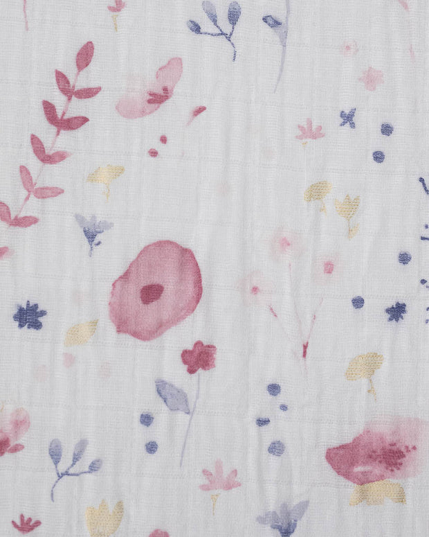 Cotton Muslin Crib Sheet - Fairy Garden