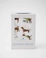 Cotton Muslin Crib Sheet - Woof