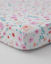 Percale Crib Sheet - Morning Glory