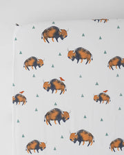 Percale Crib Sheet - Bison