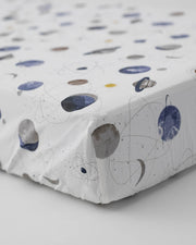 Percale Crib Sheet - Planetary