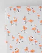 Percale Crib Sheet - Pink Ladies