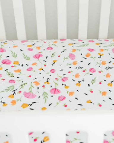 Brushed Muslin Crib Sheet - Berry & Bloom