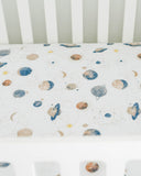 Brushed Muslin Crib Sheet - Planetary