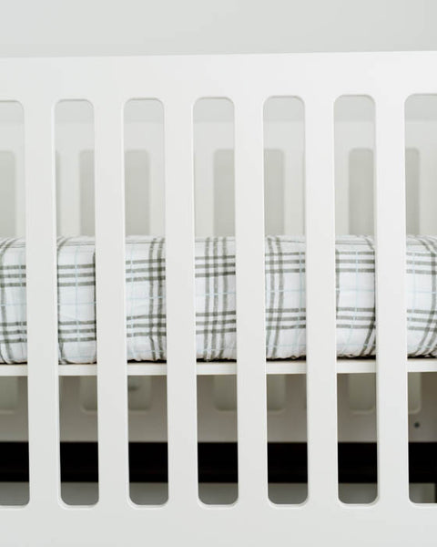 Brushed Muslin Crib Sheet - Pendleton Plaid