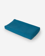 Cotton Muslin Changing Pad Cover - Lake