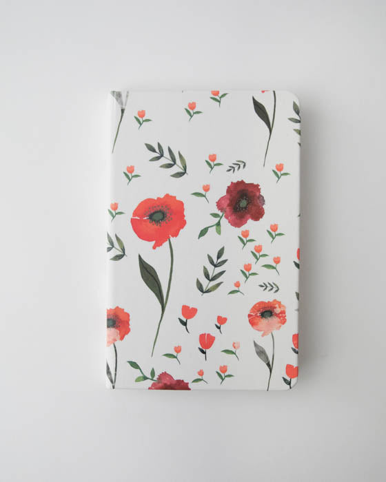 Hard Cover Journal - Summer Poppy