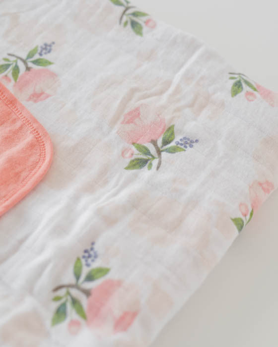 Brushed Muslin Quilt - Watercolor Rose