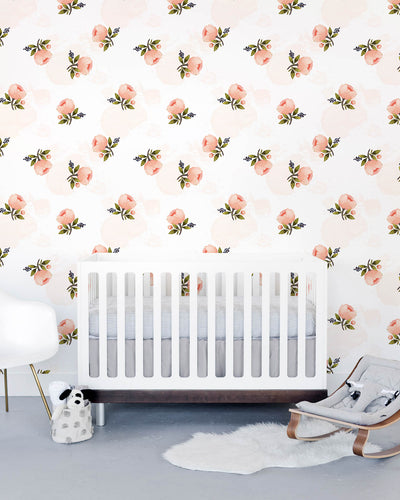 Removable Wallpaper - Watercolor Rose