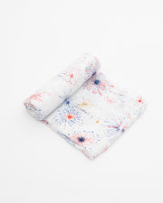 Cotton Muslin Swaddle Blanket - Fireworks