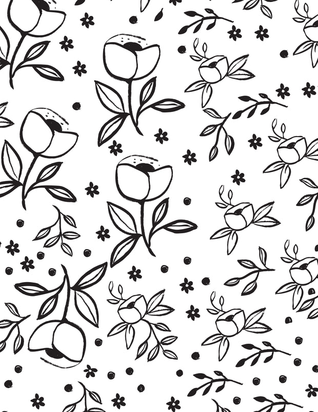 Downloadable Coloring Page - Garden Rose