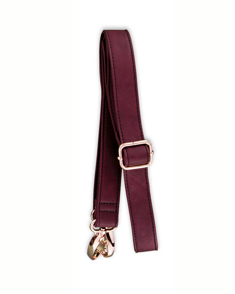 Leather Shoulder Strap - Pomegranate