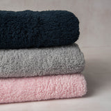 Little Unicorn Chenille Receiving Blankets in grey, pink, and navy