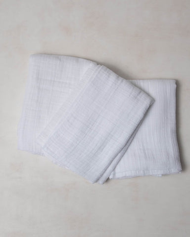 Cotton Swaddle Set - White