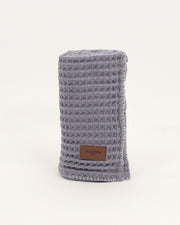 Organic Cotton Waffle Knit Baby Blanket - Charcoal