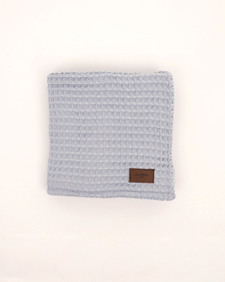 Organic Cotton Waffle Knit Baby Blanket - Light Grey