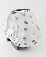 Cotton Muslin Car Seat Canopy - Prickle Pots