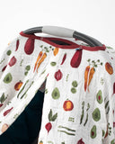 Cotton Muslin Car Seat Canopy - Farmers Market