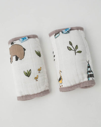 Cotton Muslin Strap Covers - Forest Friends