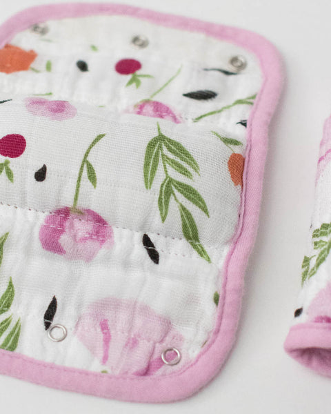 Cotton Muslin Strap Covers - Berry & Bloom