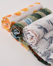 LU + Jurassic World Cotton Muslin Swaddle Blanket Set - Jurassic World